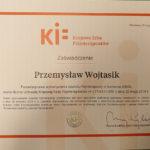 Certyfikat dla Przemysława Wojtasika
