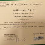 Zaświadczenie dla Przemysława Wojtasika