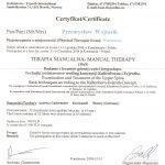 Przemysław Wojtasik - Certyfikat